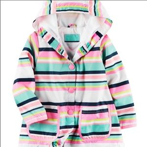 Carters Striped RainCoat Size 3T